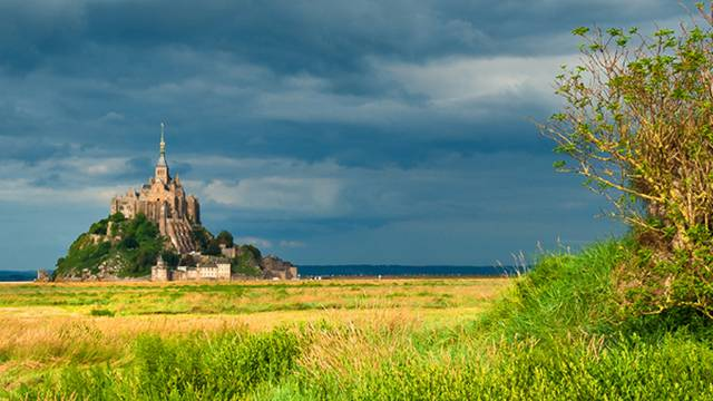 The bay of Mont Saint-Michel